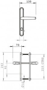 long handle dimensions