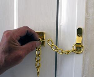 narrow door chain front