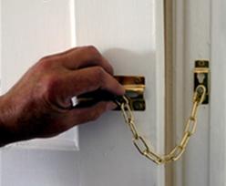 door chain on